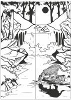 Пескоструйный рисунок Пейзаж №69