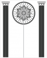 Пескоструйный рисунок Колонны №69