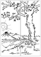 Пескоструйный рисунок Пейзаж №70