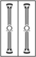 Пескоструйный рисунок Колонны №7