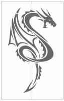 Пескоструйный рисунок Дракон №7