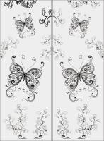 Шаблон бабочки №7
