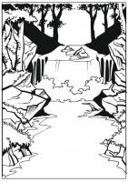 Пескоструйный рисунок Пейзаж №72