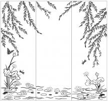 Пескоструйный рисунок Пейзаж №73