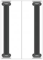 Пескоструйный рисунок Колонны №74