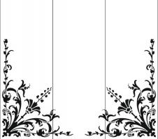 Пескоструйный рисунок уголок 77