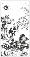 Пескоструйный рисунок Пейзаж №77