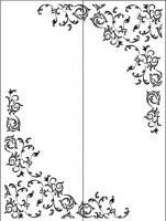 Пескоструйный рисунок уголок 78