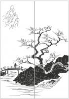 Пескоструйный рисунок Пейзаж №79