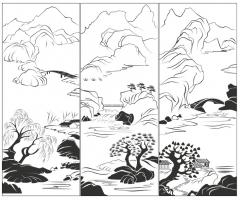 Пескоструйный рисунок Пейзаж №80