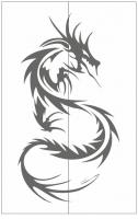 Пескоструйный рисунок Дракон №8