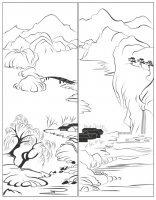 Пескоструйный рисунок Пейзаж №81