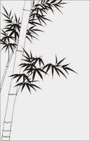 Бамбук в векторе №8