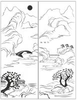 Пескоструйный рисунок Пейзаж №82