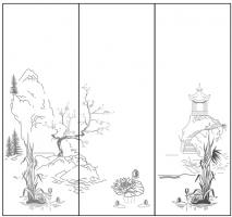 Пескоструйный рисунок Пейзаж №85