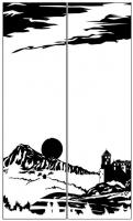 Пескоструйный рисунок Пейзаж №86