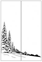 Пескоструйный рисунок Пейзаж №87