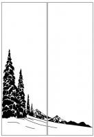 Пескоструйный рисунок Пейзаж №88