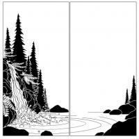 Пескоструйный рисунок Пейзаж №90