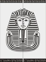Шаблон Тутанхамон №9