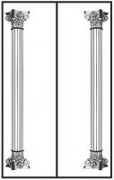 Пескоструйный рисунок Колонны №9