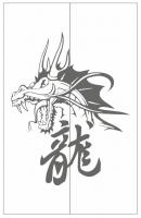 Пескоструйный рисунок Дракон №9