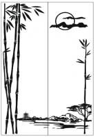 Пескоструйный рисунок Пейзаж №91