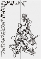 Кот со скрипкой №9