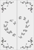 Шаблон бабочки №9