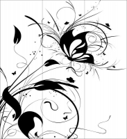 Пескоструйный рисунок бабочки 93