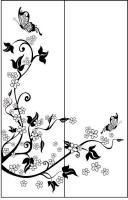 Пескоструйный рисунок бабочки 94