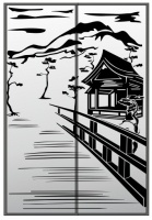 Пескоструйный рисунок Пейзаж №94