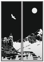 Пескоструйный рисунок Пейзаж №95