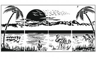 Пескоструйный рисунок Пейзаж №96