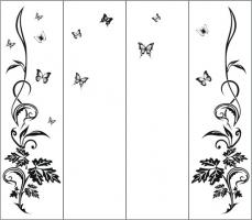 Пескоструйный рисунок бабочки 97