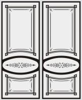 Пескоструйный рисунок на двери №9