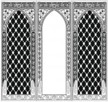 Пескоструйный рисунок Рамка узор №994