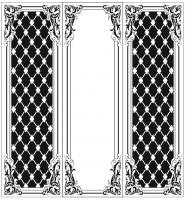Пескоструйный рисунок Рамка узор  №995