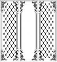 Пескоструйный рисунок Рамка узор  №996